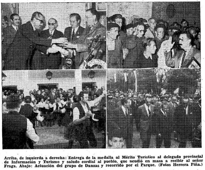 Fotografías de la Inauguración del Tele-Club Piloto de Herencia por Manuel Fraga.