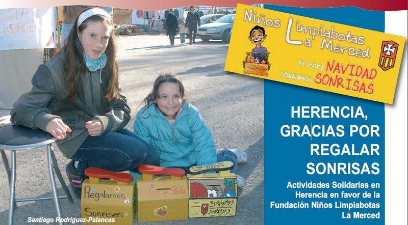 El mercedario Santiago Rodríguez agradece al pueblo de Herencia su apoyo a la Fundación NiñosLimpiabotas