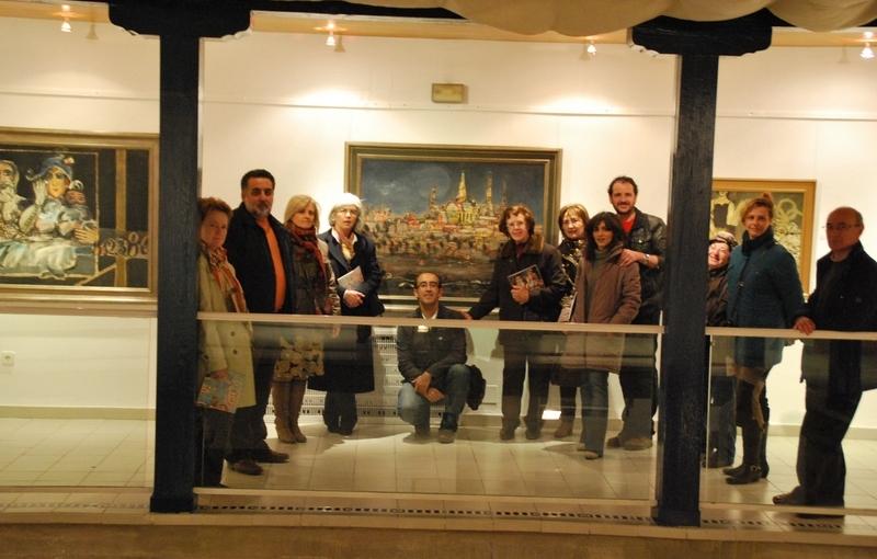 Visita a la exposición de Agustín y Gustavo Úbeda en Alcázar de San Juan