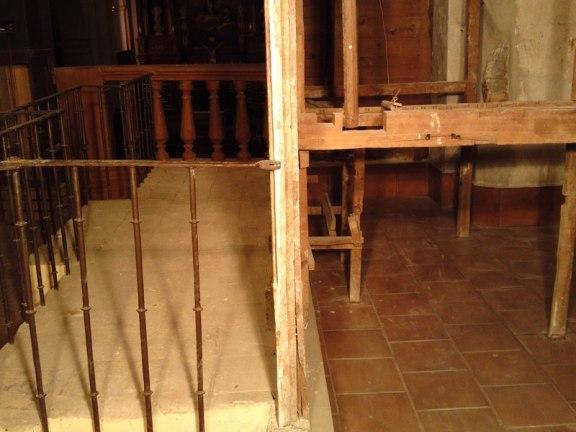 trabajos de recostrucción del  órgano parroquial de Herencia