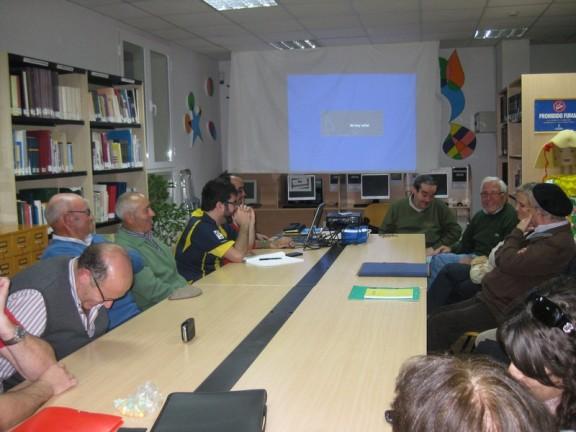 Visita de Eugenio Martín de Ruedas al Taller de Historia Local