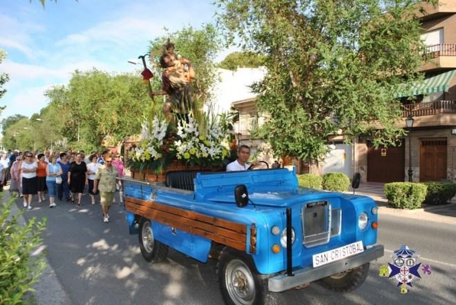 San Cristobal en Procesión por las calles de Herencia