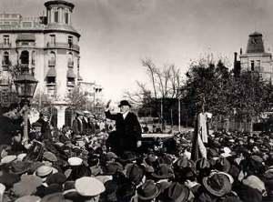 Mitin de Pablo Iglesias en 1915