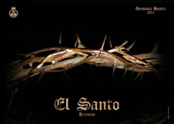 Herencia Cartel Semana Santa 2013 de la Cofradía de El Santo realizado por Yolanda Corrales