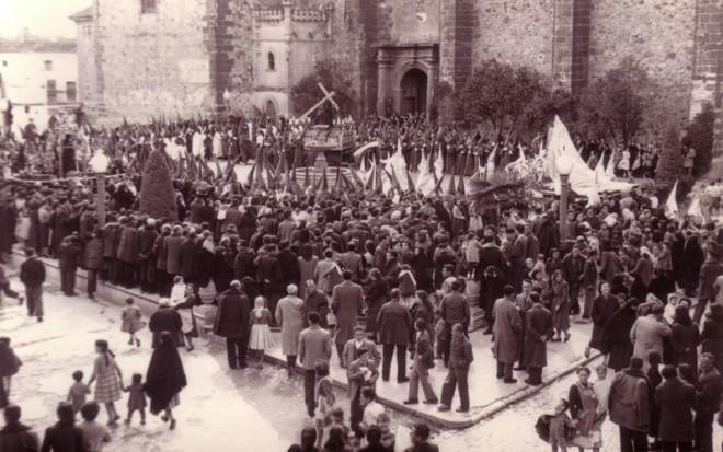 Semana Santa del año 1955. Procesión de los Siete Santos