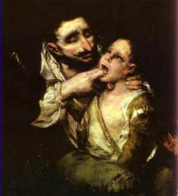 """""""El garrotillo"""", de Francisco de Goya"""