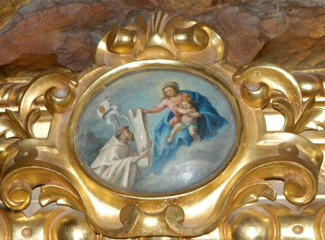 Peana del conjunto escultórico de San Pedro Nolasco en la Real iglesia de La Merced de Herencia, Ciudad Real
