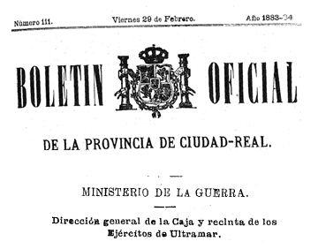 boletin oficial - La guerra de Cuba