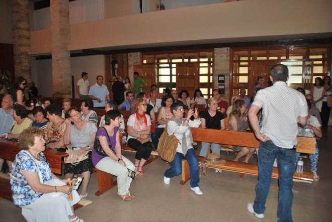 """Visita del la hermandad de """"los Moraos"""" y el Taller de Historia Local a Symbolon"""