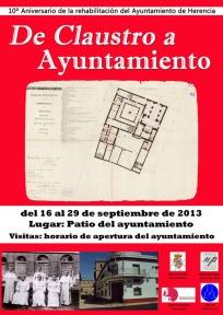 Herenica-Cartel exposición De claustro a ayuntamiento