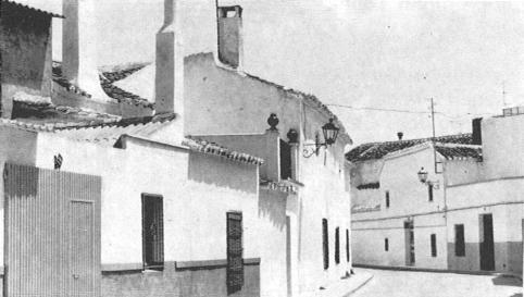 Aspecto de las calles de Herencia en el año 1984