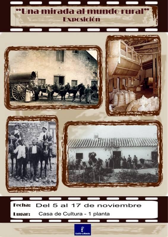 """Cartel de la exóposición foográfica """"Una mirada al mundo rural"""""""