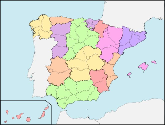 División provincial de Javier de Burgos. 1833