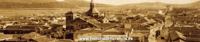 Vista de Herencia a finales del primer tercio del siglo XX