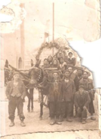 Año 1945. Ofertorio del Carnaval de Herencia