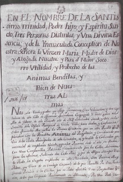 Libro de ánimas de Herencia (1766)