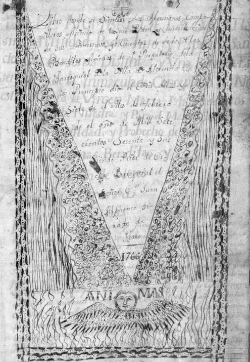 Portada libro Cofradía de Ánimas de Herencia (1766)