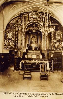 Antigua capilla del Cristo del Consuelo del convento de La Merced de Herencia