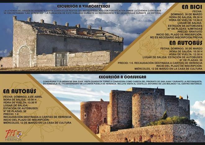 Cartel Viaje a villacentenos y Consuegra