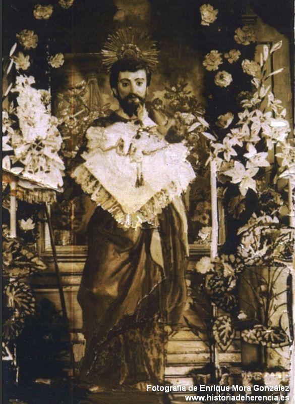 Imagen de San José anterior a 1936 (foto de Enrique Mora González)