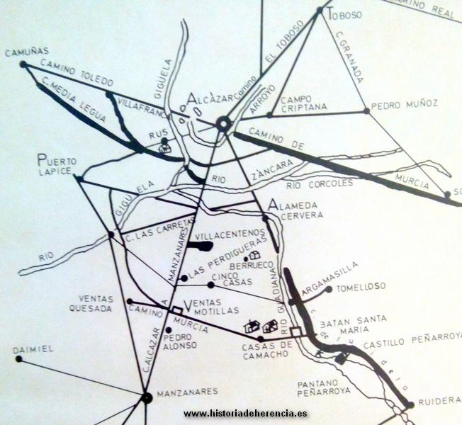 Mapa en el que se puede observar la situación de Villacentenos realizado por Ángel Ligero Móstoles