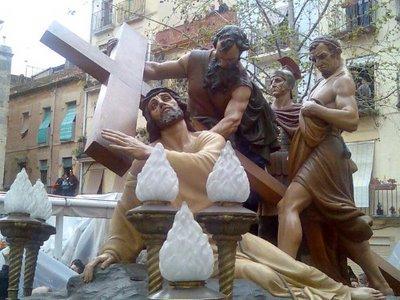 Semana Santa de Tarragona. El Cirineo obra de Antonio Parera
