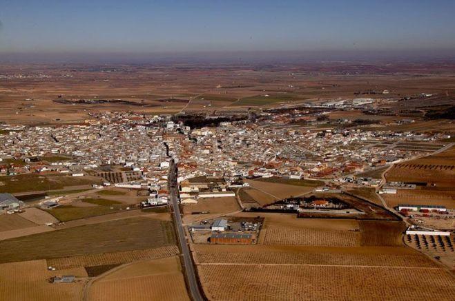 Vista área de Herencia a principios del siglo XXI
