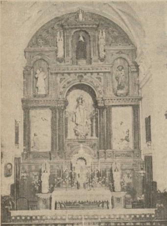 Altar Mayor de la iglesia conventual de La Merced en 1947