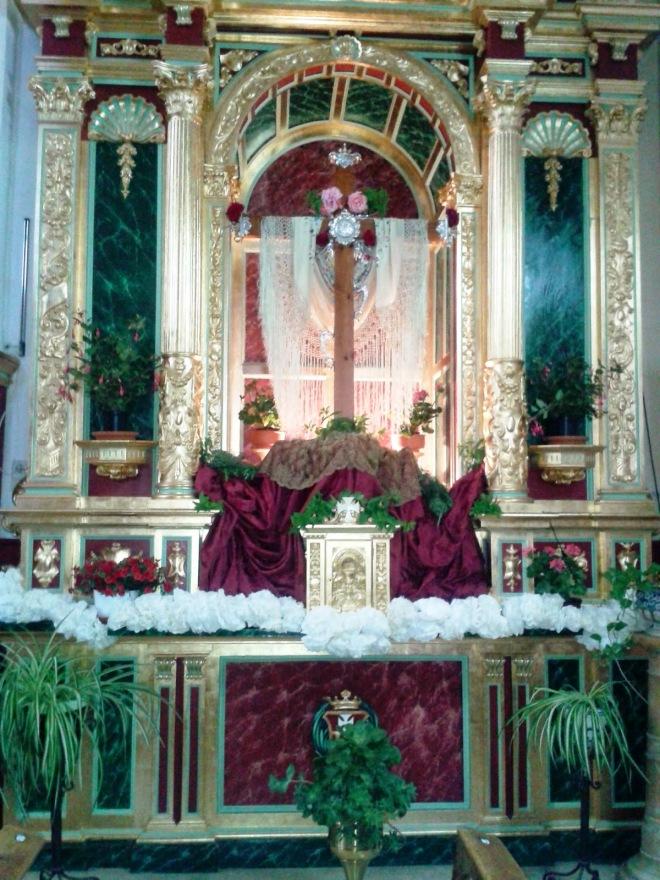 Cruz de mayo de la iglesia conventual de la Merced de Herencia