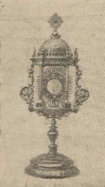 Custodia donada por Francisco Enríquez en 1936 a los mercedarios de Herencia
