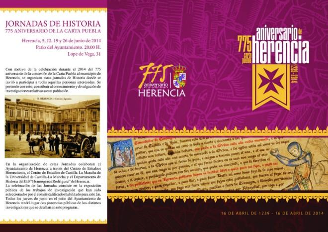 Folleto Jornadas Históricas de Herencia