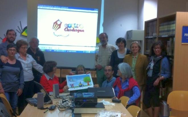 Santiago Rodríguez-Palancas visita el Taller de Historia Local de Herencia