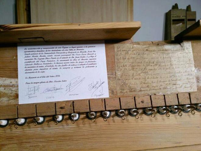 Sellado del secreto del órgano parroquial