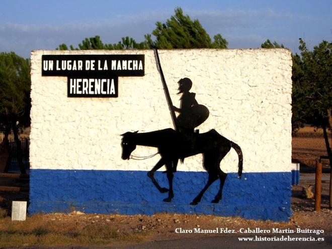 Quijote a la entrada de Herencia