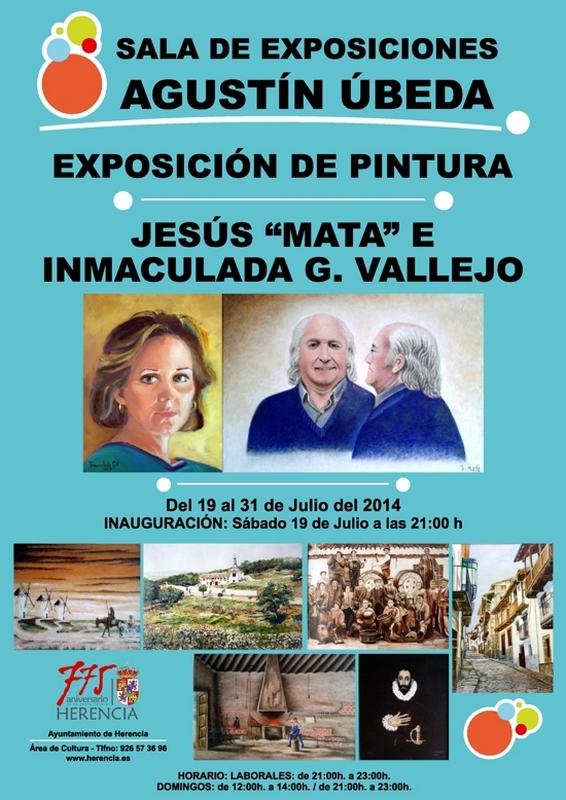 Cartel exposición Inmaculada García Vallejo y Jesús Mata