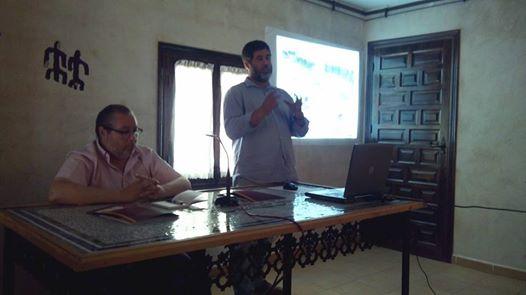 Antonio Malalana y Jorge Morín durante su conferencia en Herencia