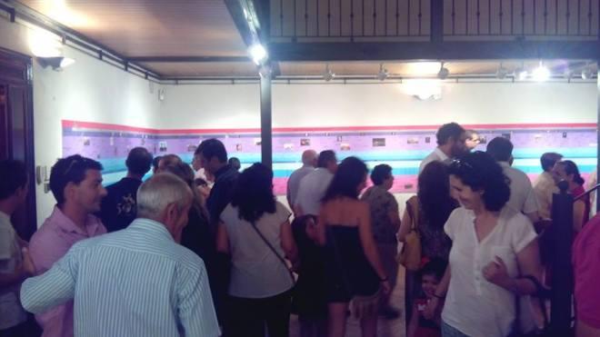 Público asistente a la inauguración de la exposición Origen