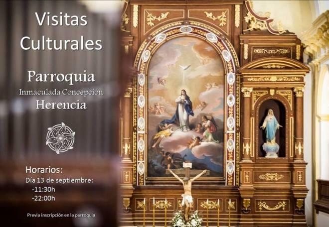 Visitas culturales a la parroquia Inmaculada Concepción de Herencia