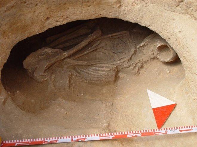 Enterramiento Nº 13 del yacimiento de Casa del Montón2