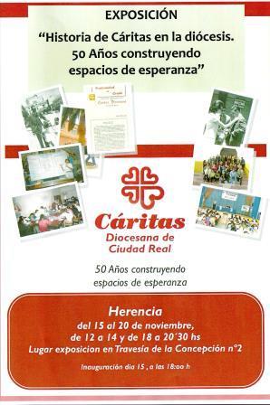 cartel exposición caritas diocesana en Herencia