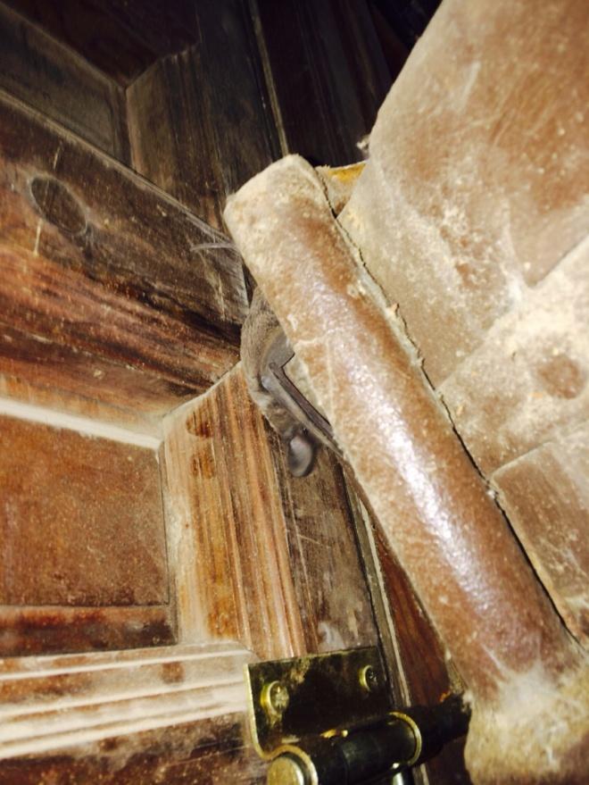 Obras de consolidación de la puerta parroquial de la umbría (2)