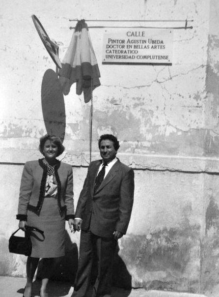 Inauguración de la calle en honor a Agustín Úbeda