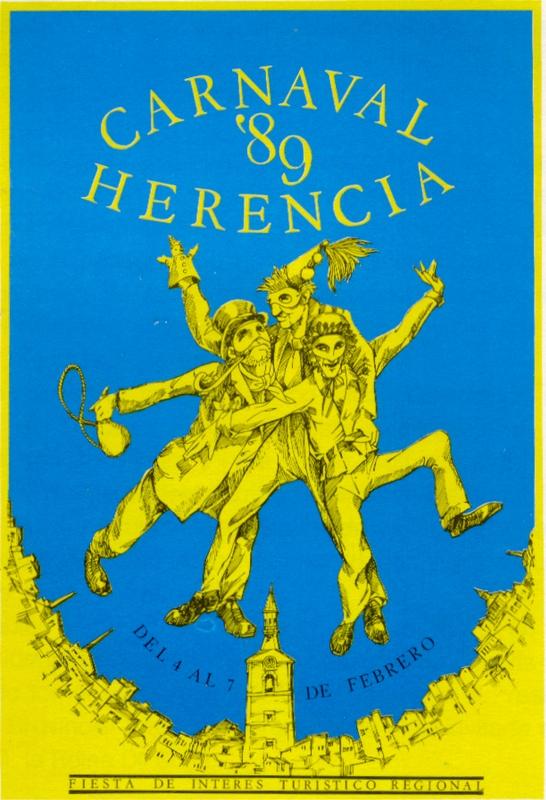 Cartel del Carnaval de Herencia 1989 obra de Rafael Garrigós