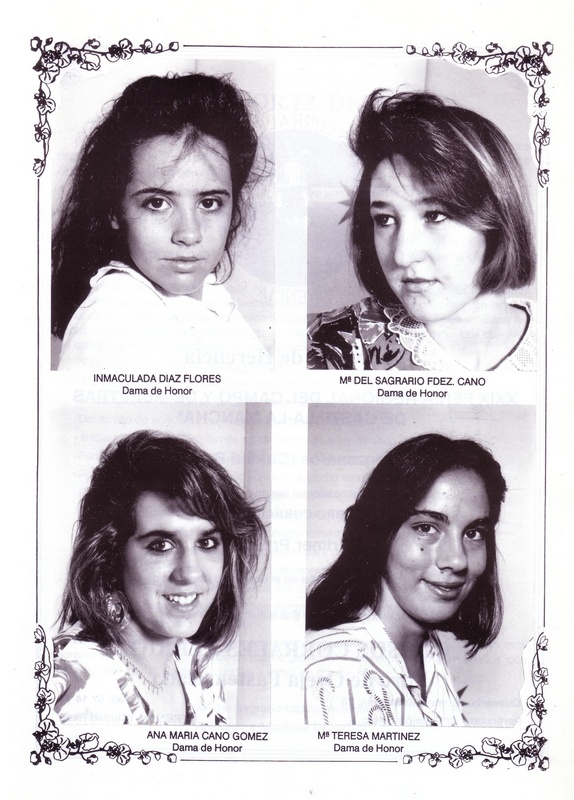 Damas de las ferias y fiestas de Herencia de 1989_1