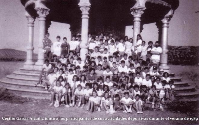 Participantes en las actividades deportivas de Cecilio García Alcañiz_Herencia