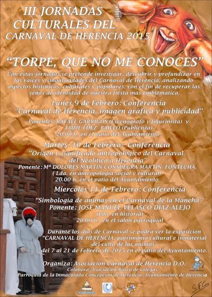 """III Jornadas Culturales """"Torpe, que no me conoces"""" del Carnaval de Herencia"""