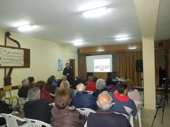 José Manuel Velasco durante su ponencia sobre las cofradías de ánimas