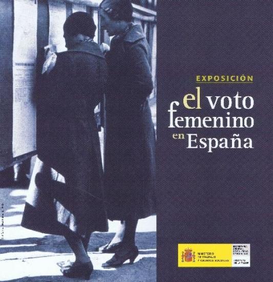 """Cartel de la exposición """"El voto femenino en España"""""""