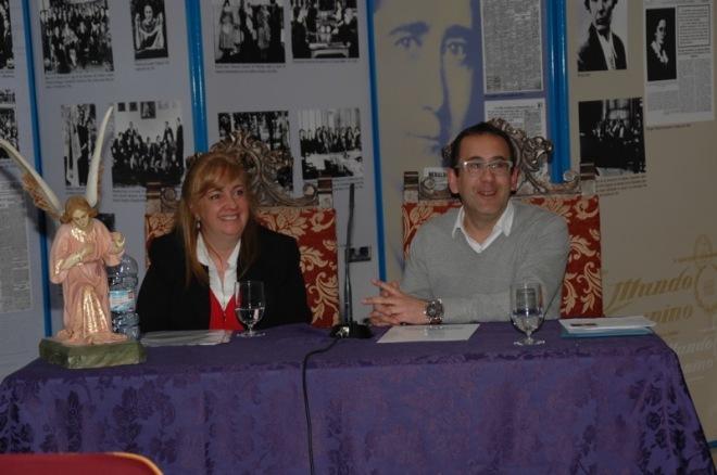 Soledad Franch y Enrique Rodríguez de Tembleque durante su conferencia