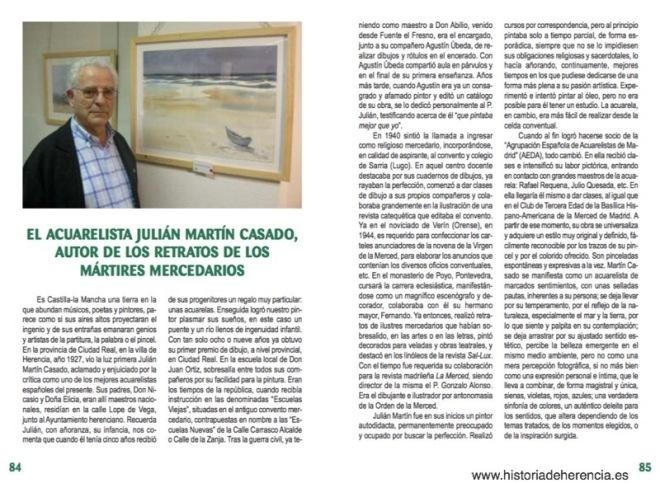 """Anexo de picado a Julián Martín Casado en libro de Mario Alonso Aguado, """"Amaneció al atardecer. P. Manuel Cereijo y diecisiete compañeros, mercenarios mártires del siglo XX en España"""""""
